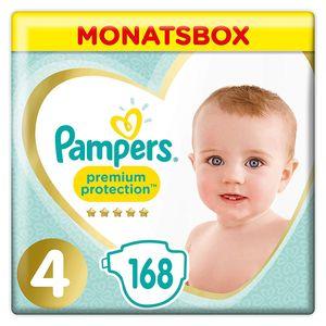 Pampers Premium Protection Gr.4 Maxi 9-14kg MonatsBox, 168 Stück - Größe 4 - 168 Stück