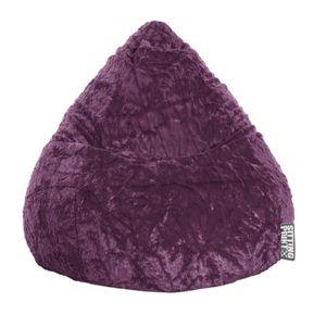 Sitting Point Bean Bag Fluffy XL 70 x 110 cm,  Aubergine 70x10cm