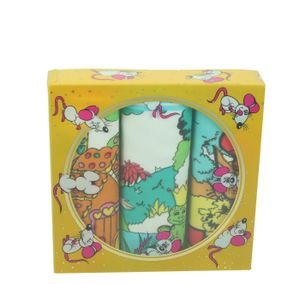 Betz 3 Stück Kindertaschentücher in der Geschenkbox  ca. 25x25 cm 100% Baumwolle Märchen Motive  Design 4 Farbe: gelb