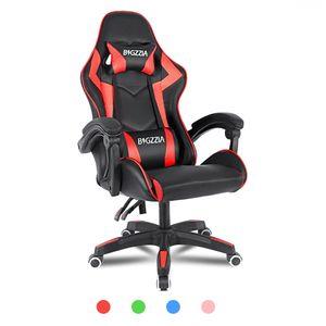Bigzzia Gaming Stuhl, Bürostuhl, Rennstuhl, Schreibtischstuhl, ergonomisches Design mit Kissen, bis zu 110 kg