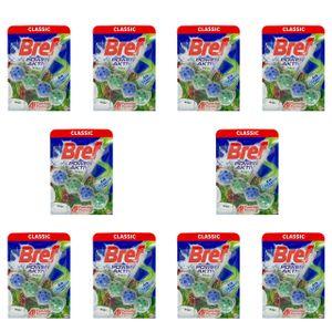 10x Bref Pine WC Frisch Power Aktiv WC-Hänger Für Toilette (1x 50g)
