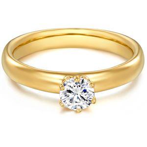 Ring Sterling Silber Zirkonia weiß 48
