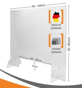 MyMaxxi - Spuckschutz Thekenaufsatz mit Durchreiche Aufsteller aus 5mm ca. 100x75 cm Hygieneschutz  Trennwand  Hustenschutz  Schutzschild