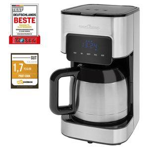 ProfiCook Kaffeeautomat PC-KA 1191 für 8-10 Tassen, elektronische Aromawahlfunktion, Sensor Touch-Bedienung, Edelstahl-Thermokanne (doppelwandig)