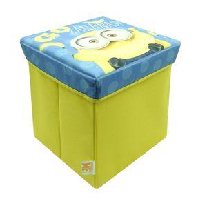 Kinder Hocker Minions faltbar Aufbewahrungsbox Sitzwürfel Sitzhocker Sitztruhe