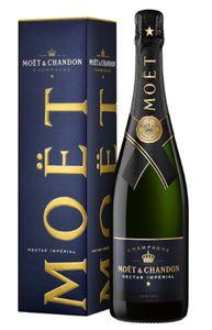Moët & Chandon Nectar Impérial Champagner Demi Sec halbtrocken in Geschenkpackung Champagne Frankreich | 12 % vol | 0,75 l