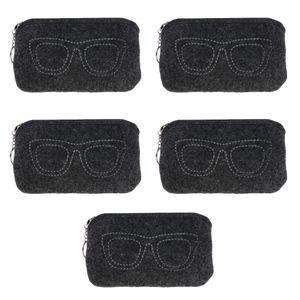5stk Brillenetui Brillenbox Brillen Etui Box für Sonnenbrillen Dunkelgrau 17 x 10 x 1,5 cm