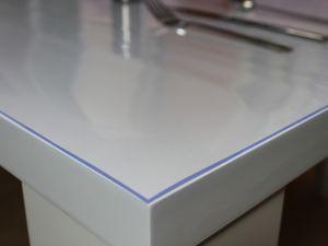 Tischschutzfolie Transparent PVC 2mm Tischdecke Schutzfolie 90x160cm + Toleranz