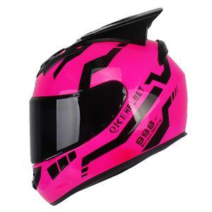 Adult Fashion Compact Leichter Vollgesichts-Motorrad-Stra?enradhelm DOT Zugelassen fš¹r den Schutz der Sicherheit beim Motorradrennen