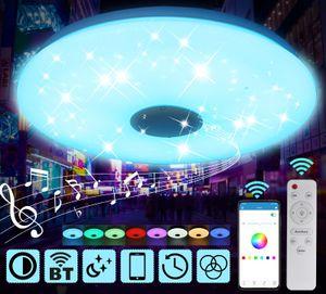 LED Deckenleuchte mit Bluetooth-Musik Farbwechsel, intelligente Deckenleuchte mit Fernbedienung