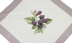"""Tisch-Mitteldecke """"Motiv"""" Brombere 90 x 90 cm pflegeleichte Tischdecke für Küche, Garten, Balkon und Co."""