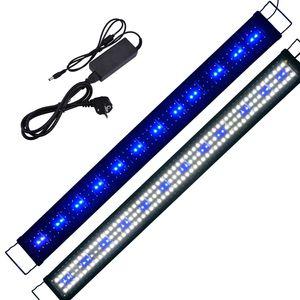 120-140CM LED Aquarium Beleuchtung Lampe Aufsetzleuchte Aquarien Plant Fisch Blau/Weiß/Blau+Weiß