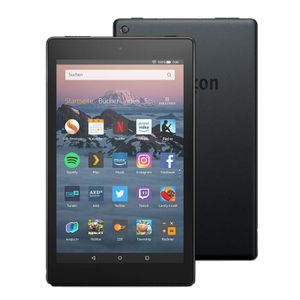 Amazon All-New Fire HD  8, Hands-  Free with Alexa,  8' HD Display, 32 GB, Black - with  Special Offers, Farbe:Schwarz