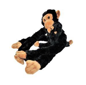 Affe mit Baby Kuscheltier 45cm Plüschtier hängend mit Kletthänden