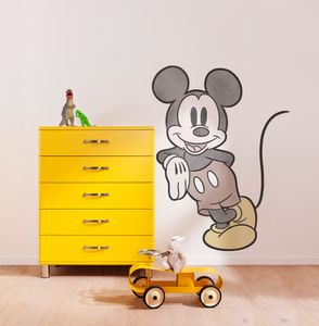 """Komar Vlies Fototapete selbstklebend und konturgeschnitten """"Mickey Essential"""" - Größe: 100 x 127 cm (Breite x Höhe) - 1 Stück"""