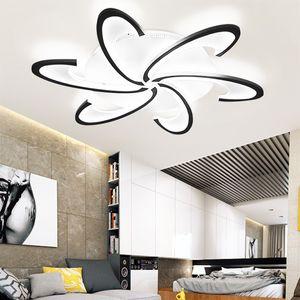 6 Kopf moderne LED-Lampe Kronleuchter Deckenleuchte für Wohnzimmer Schlafzimmer Innen (weißes Licht)