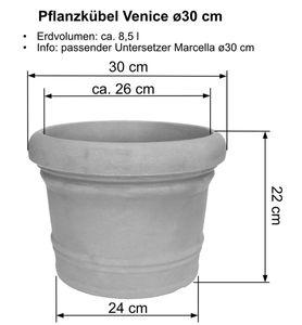 Pflanzkübel Venice, Farbe:Schwarz-Granit, Größe:ø120 cm