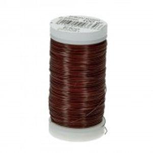 Bindedraht Spule, braun, D: 0,35 mm, 120 m