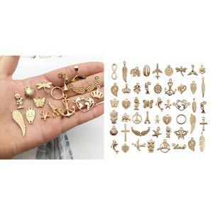 50 Stück Charms Anhänger Perlen für Schmuckarbeiten Armbänder Halsketten