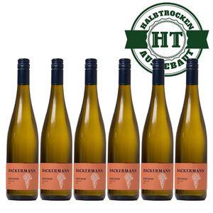 Weißwein Rheinhessen Scheurebe Weingut Dackermann Gutsriesling halbtrocken (6 x 0,75 l)