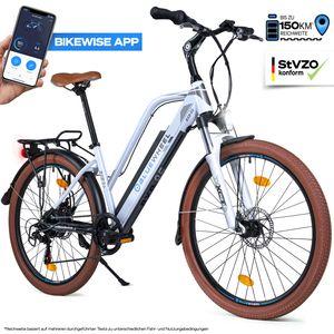"BLUEWHEEL 26"" innovatives Damen E-Bike I Deutsche Qualitätsmarke I EU konform Top City Ebike + Nabenmotor I Shimano 7 Gänge + 25 km/h Fullspeed, bis 150 km Reichweite & App   BXB85 Electric Bike"