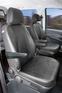 Walser Sitzbezüge für Mercedes Viano und Vito W639 für 2 Einzelsitze für Armlehne innen und aussen ab BJ 06/2003 - 2013, 11506