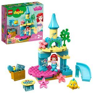 LEGO 10922 DUPLO Disney Princess Arielles Unterwasserschloss mit Arielle der kleinen Meerjungfrau für Kleinkinder im Alter von 2–5 Jahren, Bauset