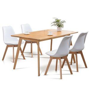 Set mit 4 Esszimmerstühlen in der Küche - Weiß - Skagen im skandinavischen Stil - Hohe Qualität