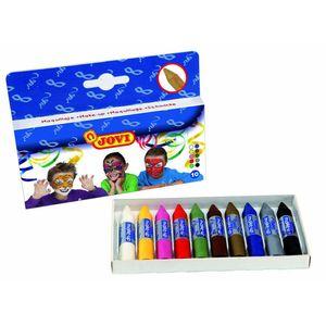 Schminkstifte Set - 10 Farben - Kinder Schminke Karneval Fasching Halloween