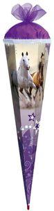 ROTH Schultüten-Bastelset Wildpferde 85 cm, 6-eckig