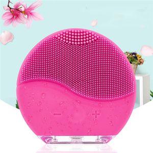 CkeyiN Gesichtsreiniger Massagegerät elektrisch kabellos Wasserdicht Silikon Gesichtsreinigungsbürste Porenreinigung Massage Peeling