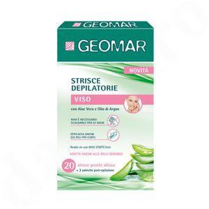 GEOMAR Wachsstreifen für Gesicht mit Aloe Vera und Arganöl 20 Stk.