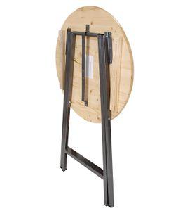 TPFGarden® Party Stehtisch ZÜLPICH aus Metall + Holz (Nadelholz) 78cm klappbar✔ | Bistrotisch Bartisch✔ | Holzstehtisch Partytisch Klappstehtisch✔
