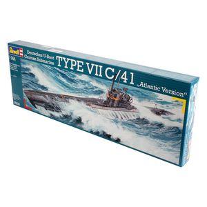 Revell U-boat Type VII C/41, 1:144, Unterseeboot, Montagesatz, U-292, U-318, U-998, U-1004, Kunststoff, Experte