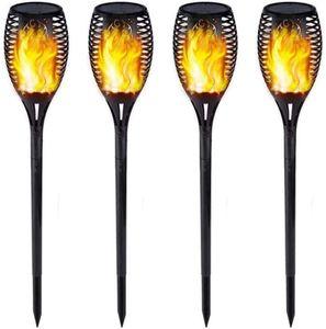 Solarlampe FACKEL, Flammeneffekt, 12 LED, 4 PCS