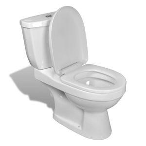 dereoir DESIGN Stand Toilette/WC Bodenstehend Keramik Weiß