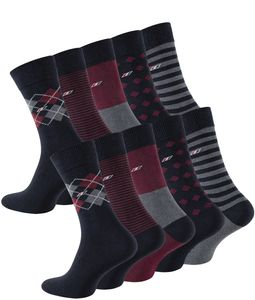 Cotton Prime® Classic Business Socken Baumwolle, 10 Paar Mehrfarbig 43-46