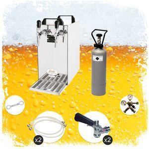 Komplett Set - Zapfanlage - Kontakt 40 2-leitig Trockenkühler, Durchlaufkühler 50 Liter/h, Green Line, Zapfkopf:ohne, Zapfkopf 2:5 Liter Adapter