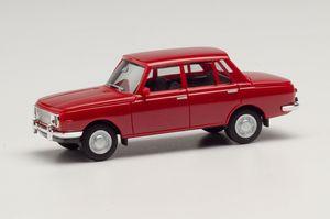 Wartburg 353 '66, rubinrot in Miniatur zum Basteln oder als Geschenk
