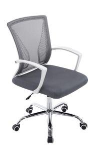 CLP Bürostuhl Tracy höhenverstellbar und drehbar, Farbe:grau, Gestell Farbe:Chrom