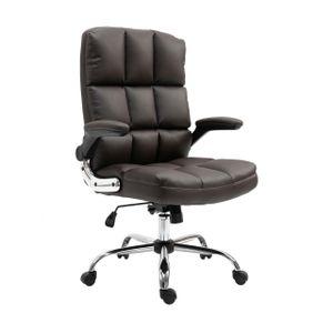 Bürostuhl MCW-J21, Chefsessel Drehstuhl Schreibtischstuhl, höhenverstellbar  Kunstleder braun
