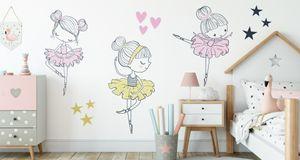 Muralo Wandsticker Mrchen-Ballerina 50 x 100 cm Wandtattoo Wanddeko Aufkleber Set Kinderzimmer XXL