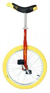 Einrad QU-AX Luxus 20' rot Alufelge, Reifen gelb