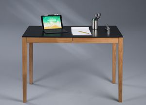 Schreibtisch Petersson - Wildeiche massiv - 110x75x60cm