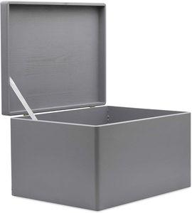 Creative Deco XXL Große Graue Holz-kiste mit Deckel | 40 x 30 x 24 cm (+/- 1 cm) | Holzbox Erinnerungsbox Holz-truhe Aufbewahrungs-box Spielzeug-kiste Kasten | Ideal für Spielzeuge und Werkzeuge