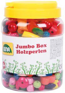 Lena 32044 - Bastelset Jumbo Box Holzfädelperlen Perlen