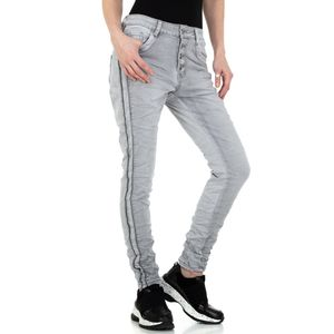 Ital-Design Damen Jeans Boyfriend Jeans Grau Gr.s/36