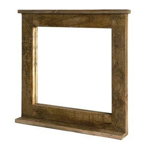 SIT Möbel Wand-Spiegel mit Ablagefläche | Mango-Holz natur | B 70 x T 9 x H 69 cm | 02590-01 | Serie FRIGO