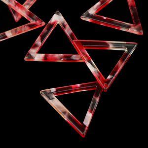 10 Stücke Aushöhlen Dreieck Baumeln Ohrring Tropfen Acetat Acryl DIY Entdeckungen Farbe rot