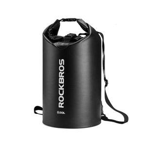 ROCKBROS  Seesack Packsack Dry Bag Taschewasserdicht Camping  10L Schwarz